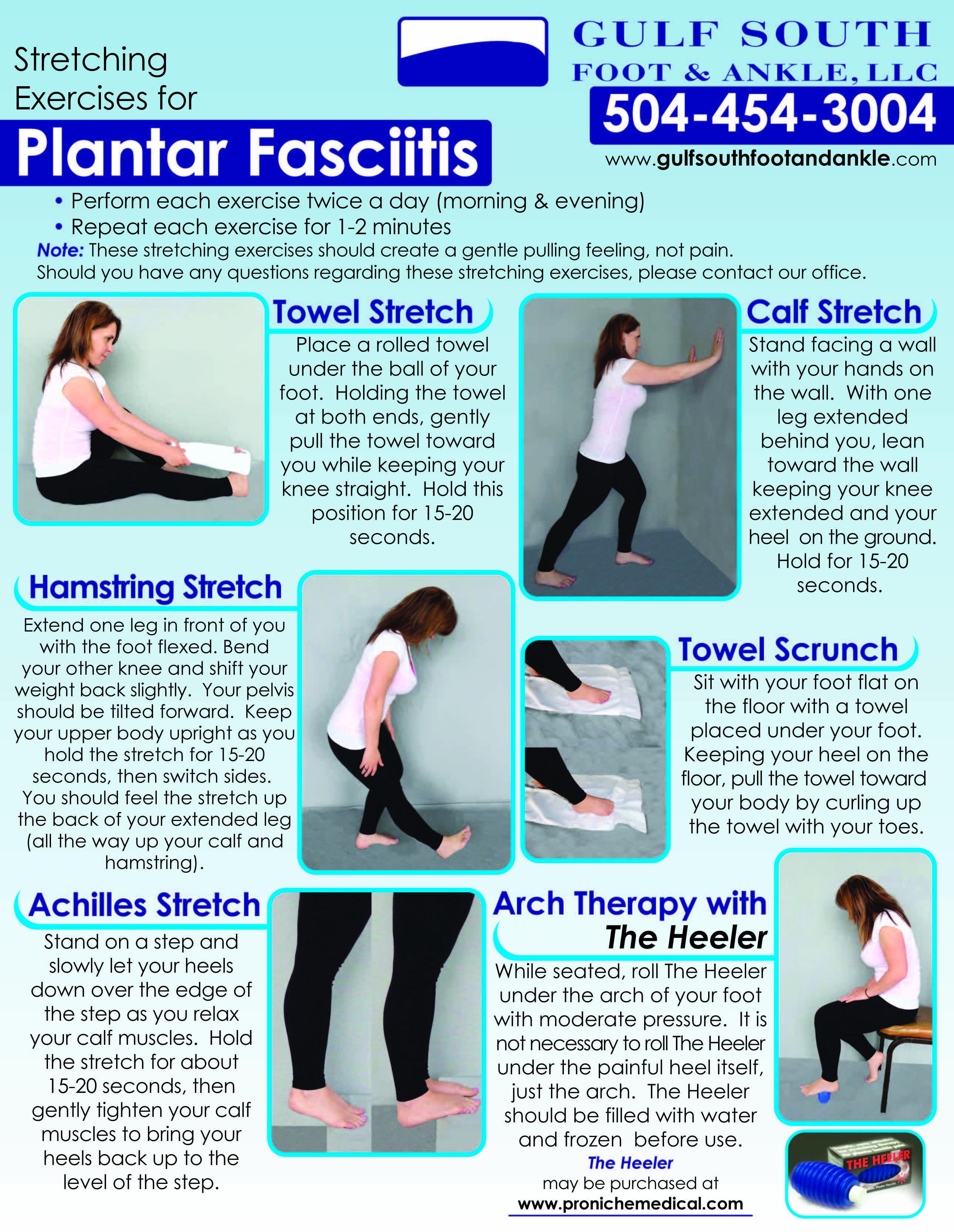 picture regarding Plantar Fasciitis Exercises Printable known as plantar fasciitis physical exercises - Google Look PTs Plantar