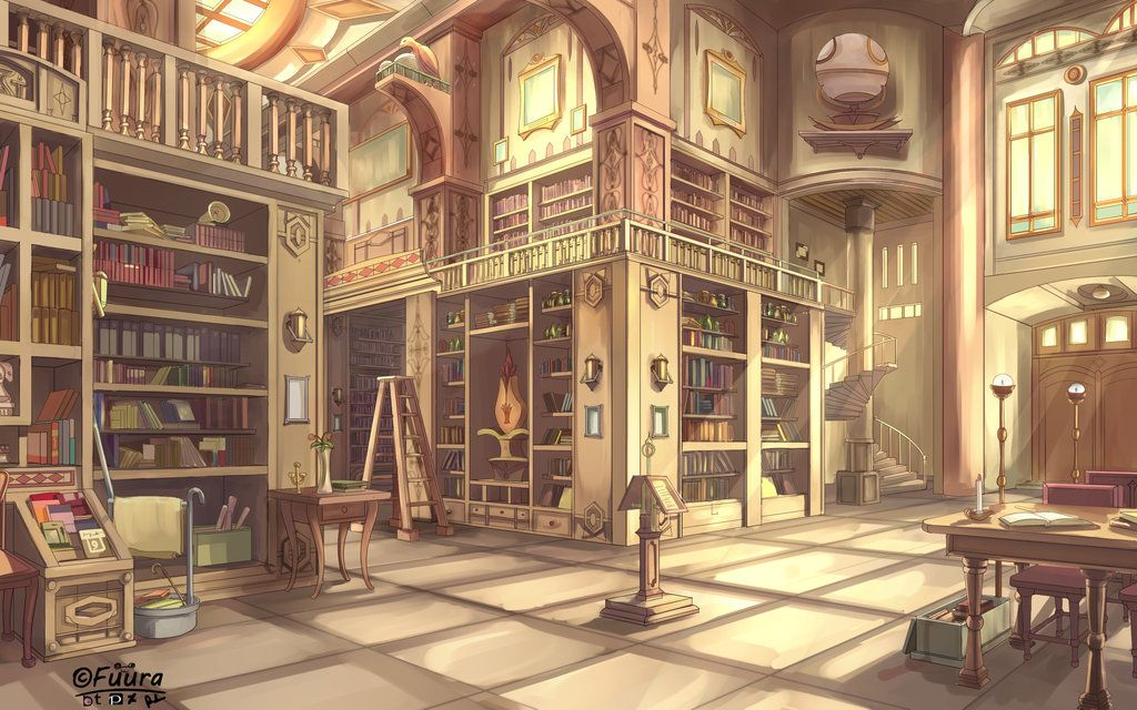 Golden Library By Afd42 Deviantart Com On Deviantart Background