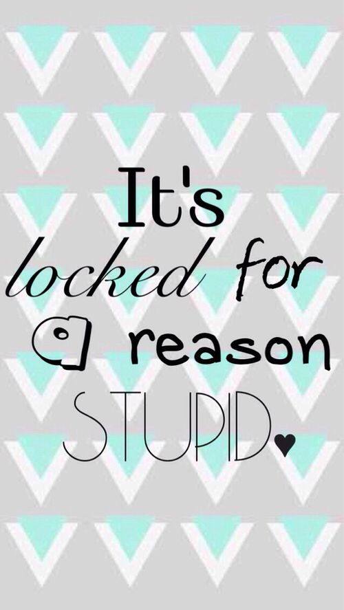 Its locked for a reason STUPID!! Funny lock screen wallpaper