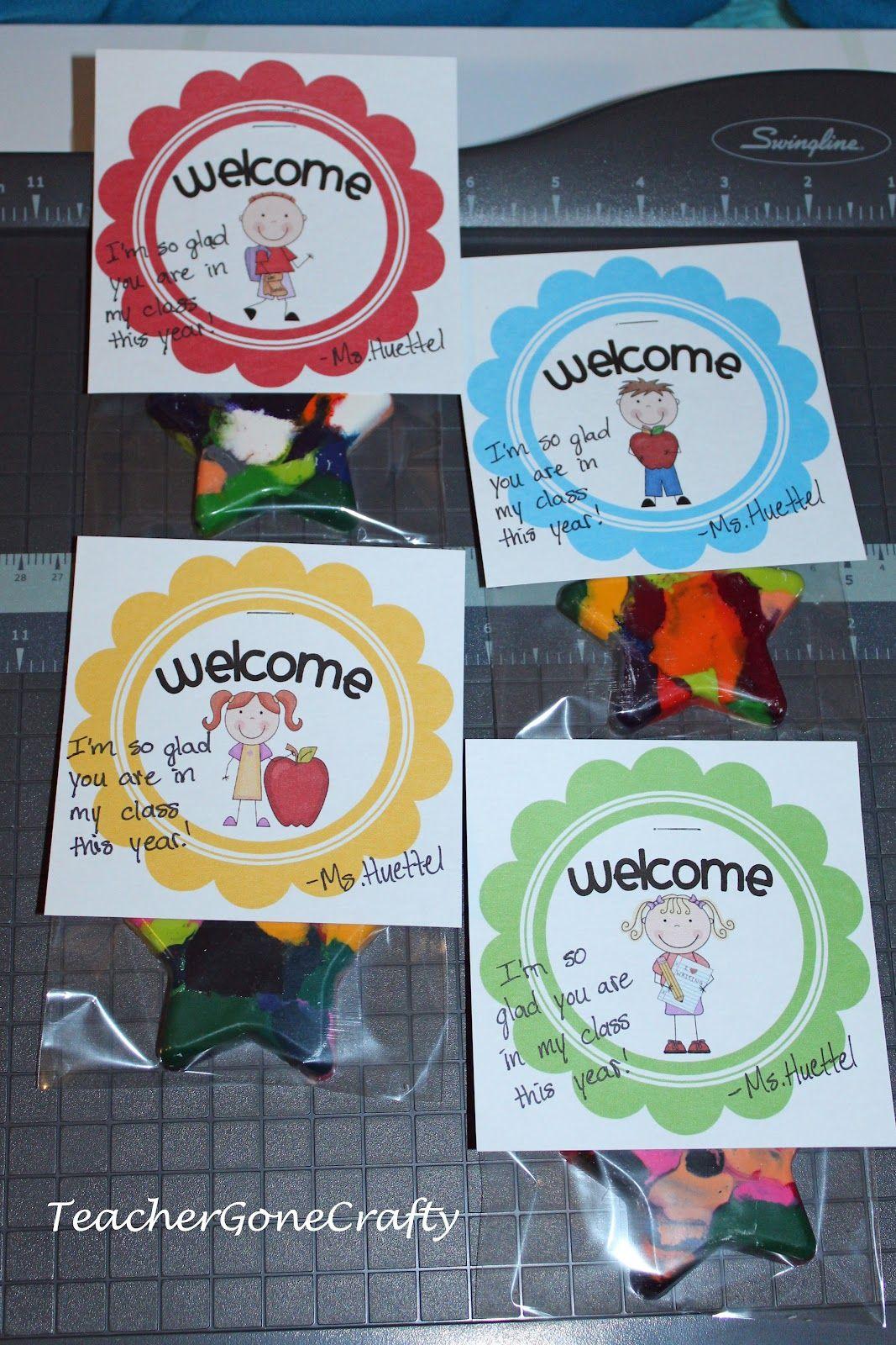 Classroom Gift Ideas ~ Teacher gone crafty welcome to kindergarten gift