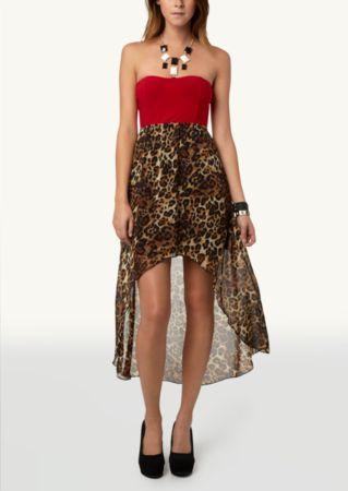 Leopard High Low Dress Dressy Rue21 Dress Code Dresses Rue