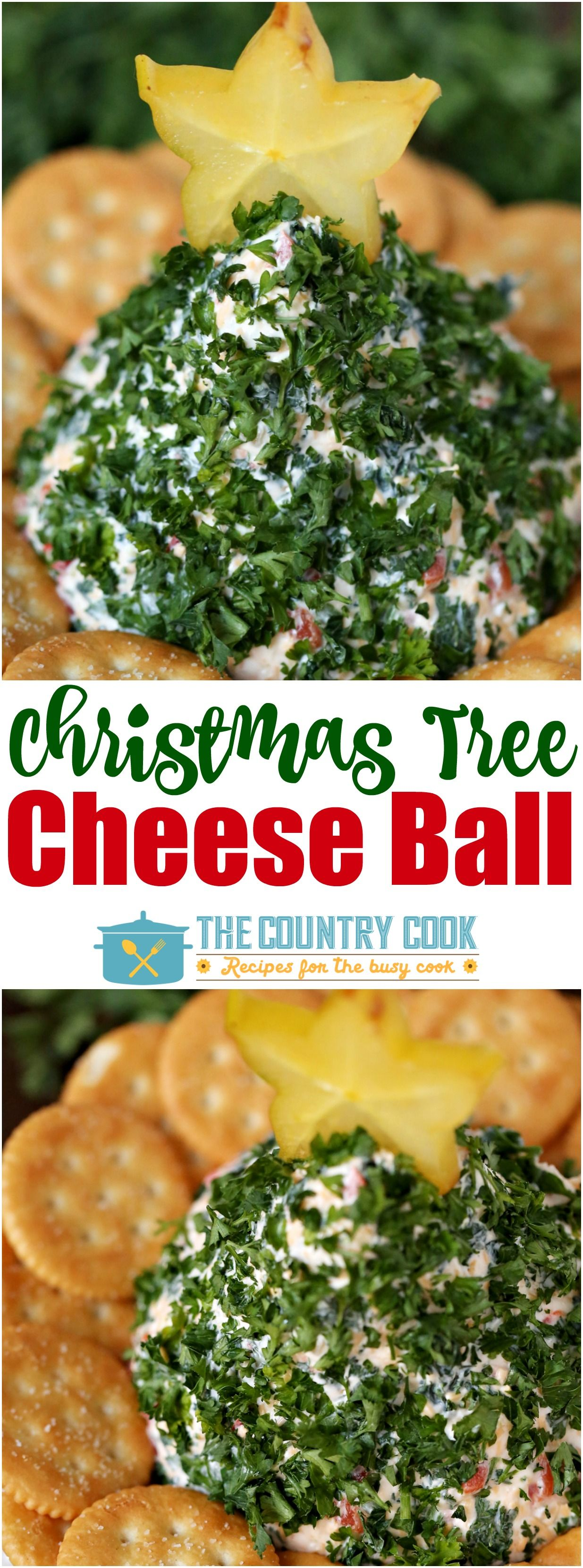 This Christmas-Tree Shaped Cheese Ball is the hit of every holiday party. It looks pretty, it's simple to make and it tastes amazing too!