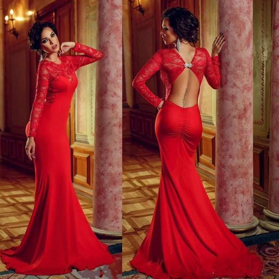 Sexy red long prom dress evening party gown pst red dressez