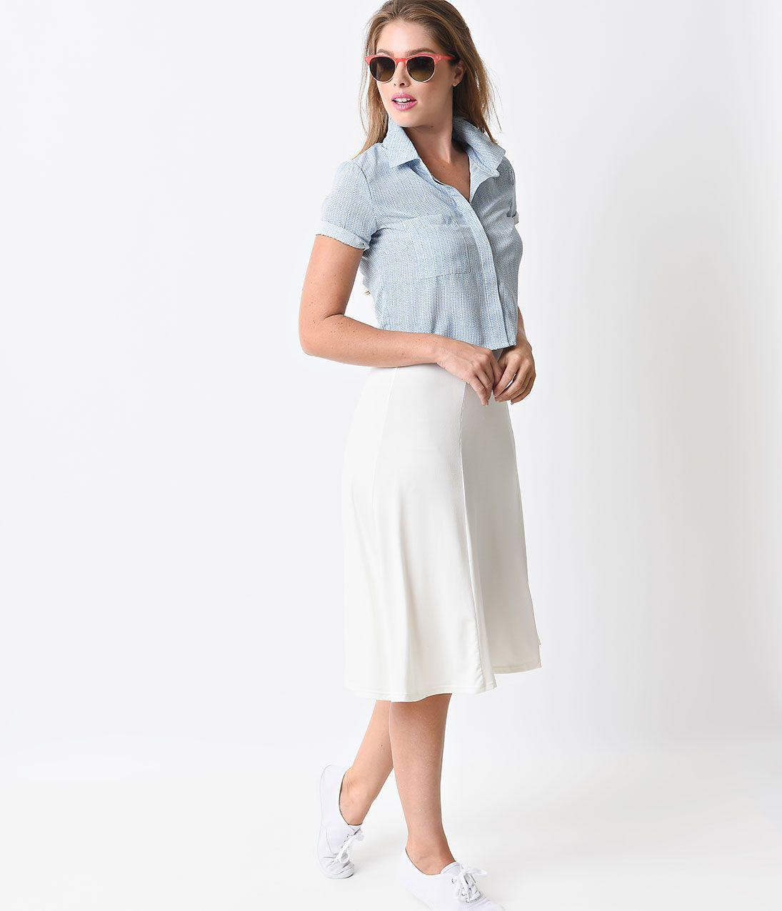 Ivory A Line Skirt