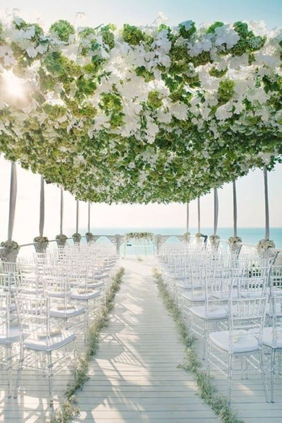 Flowers Are So Important In Wedding Scene Decoration Beach