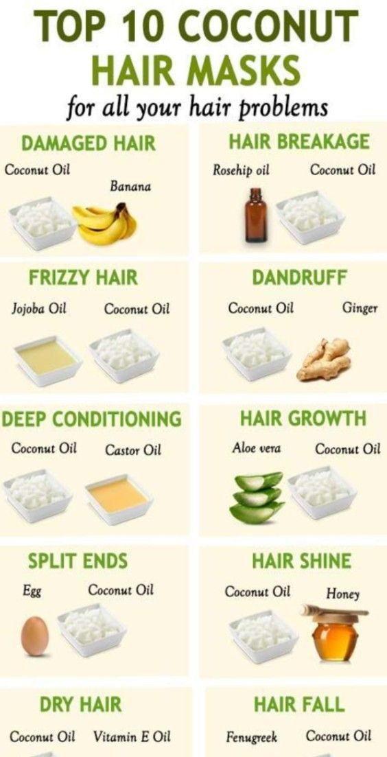 10 COCONUT OIL HAIR MASKS FOR EVERY HAIR PROBLEM