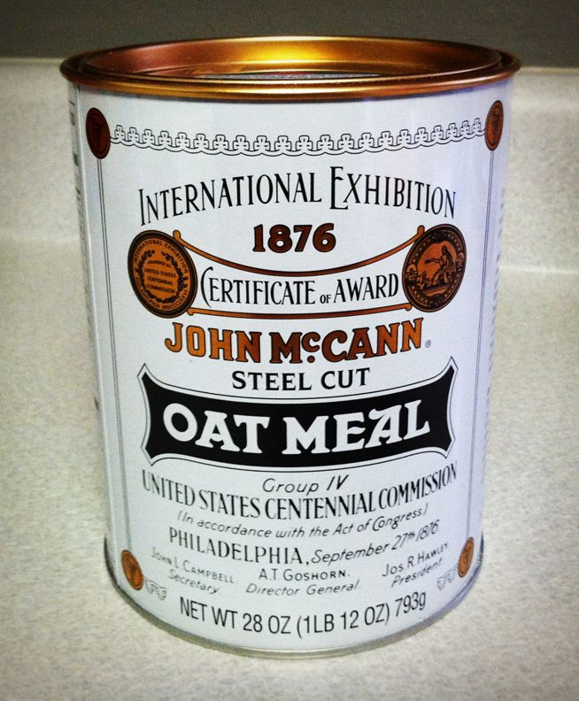 Always been a big fan of this classic oat meal label.