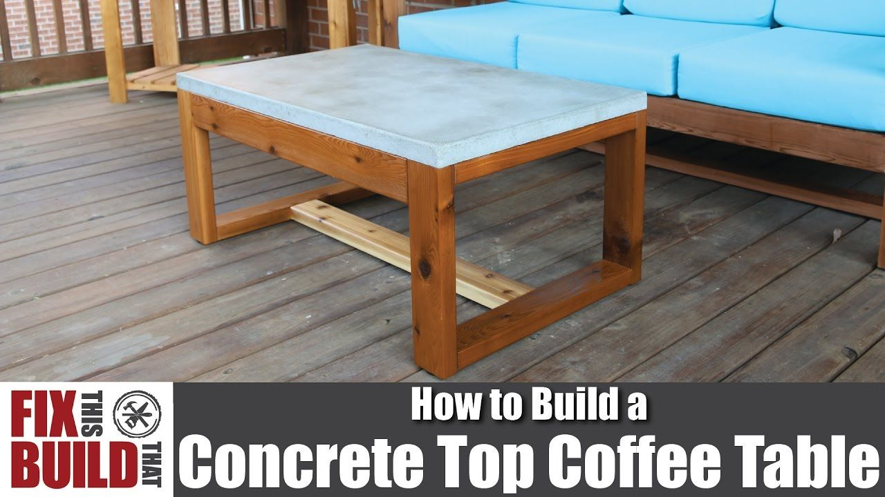 I Made A Concrete Top Outdoor Coffee Table First Time Working
