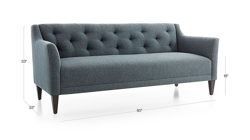 """Margot II 80"""" Grande Tufted Sofa + Reviews Crate and"""