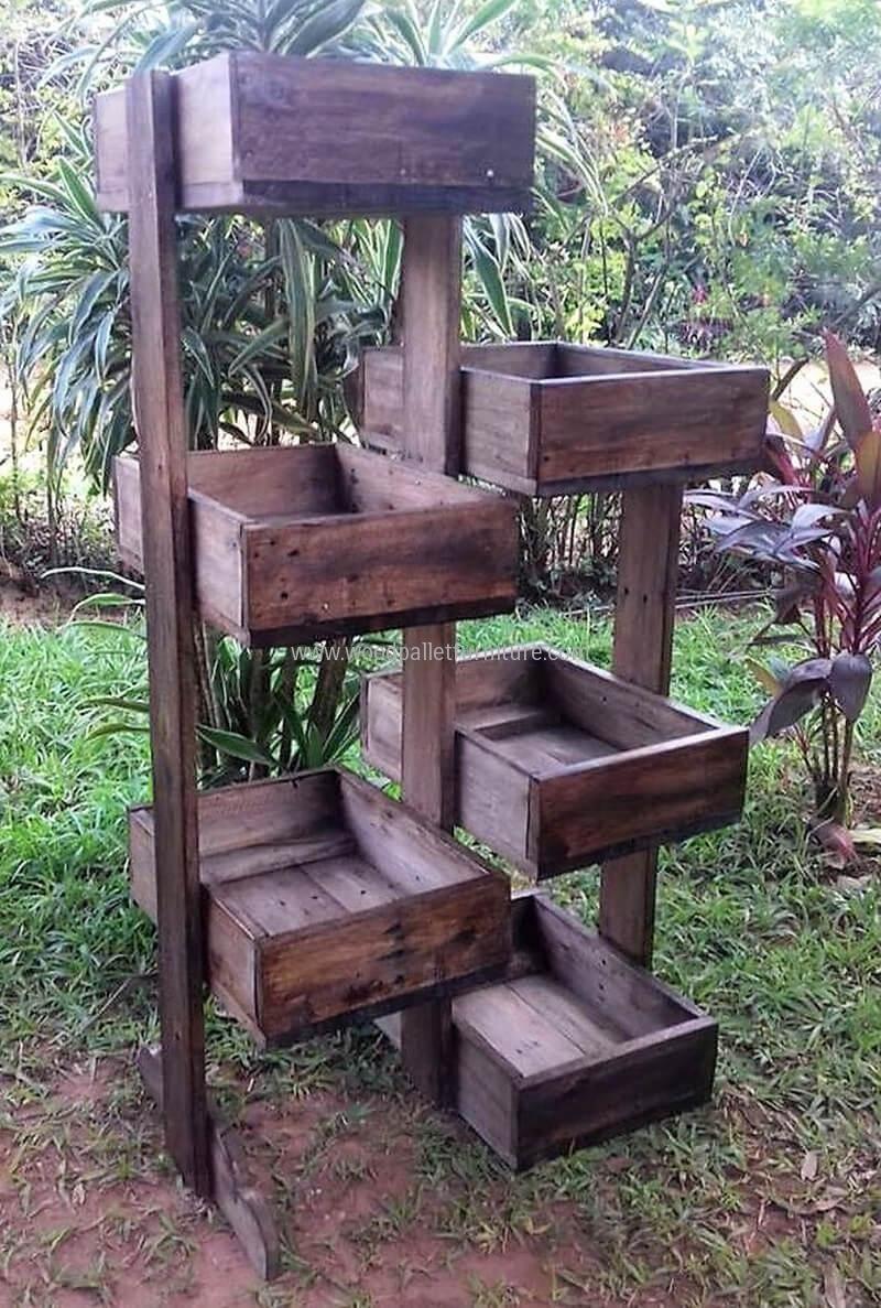 pallets pots stand idea #canteros   macetas de jardín   Pinterest ...