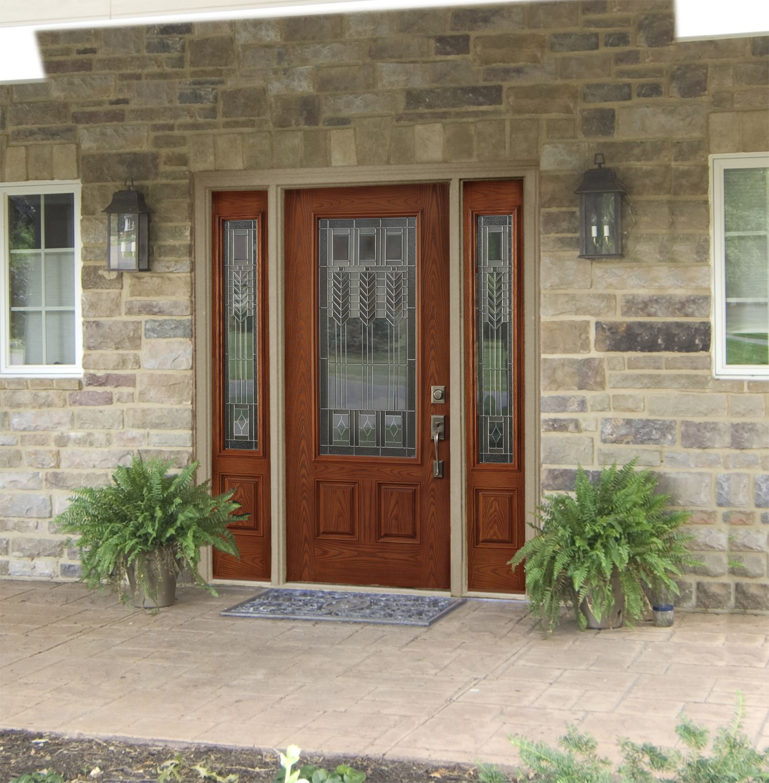 Fiberglass Door With Sidelites Home Addition Ideas Pinterest
