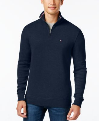 TOMMY HILFIGER Tommy Hilfiger Men'S Ribbed Quarter-Zip Sweater. #tommyhilfiger #cloth # sweaters