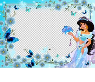 Marco transparente para fotos de la princesa jasmine fotomontajes disney pinterest - Marcos transparentes ...