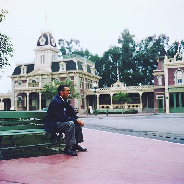 "Image result for ""walt disney"" sitting in park"