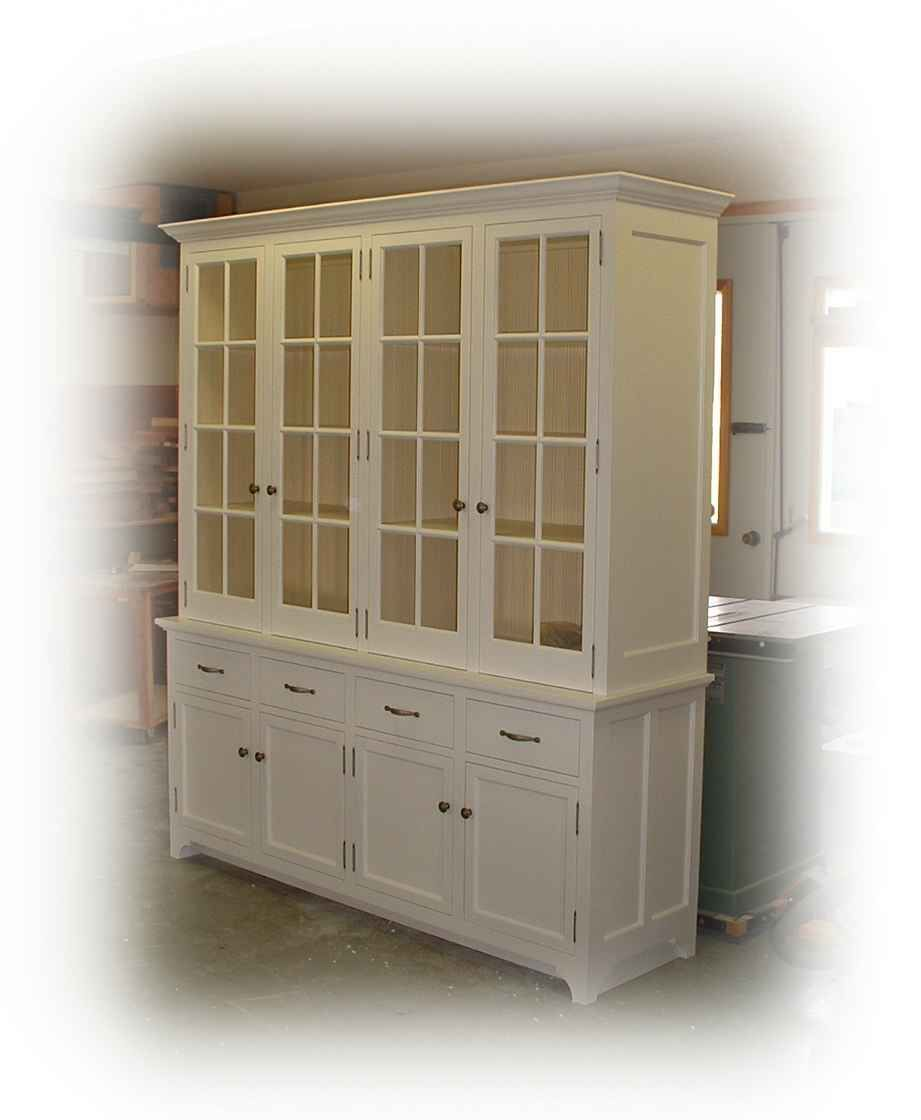 White Kitchen Buffet: White Buffet & Hutch