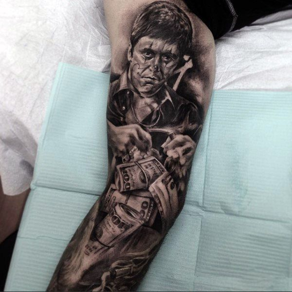 40 Scarface Tattoo Design Ideas For Men