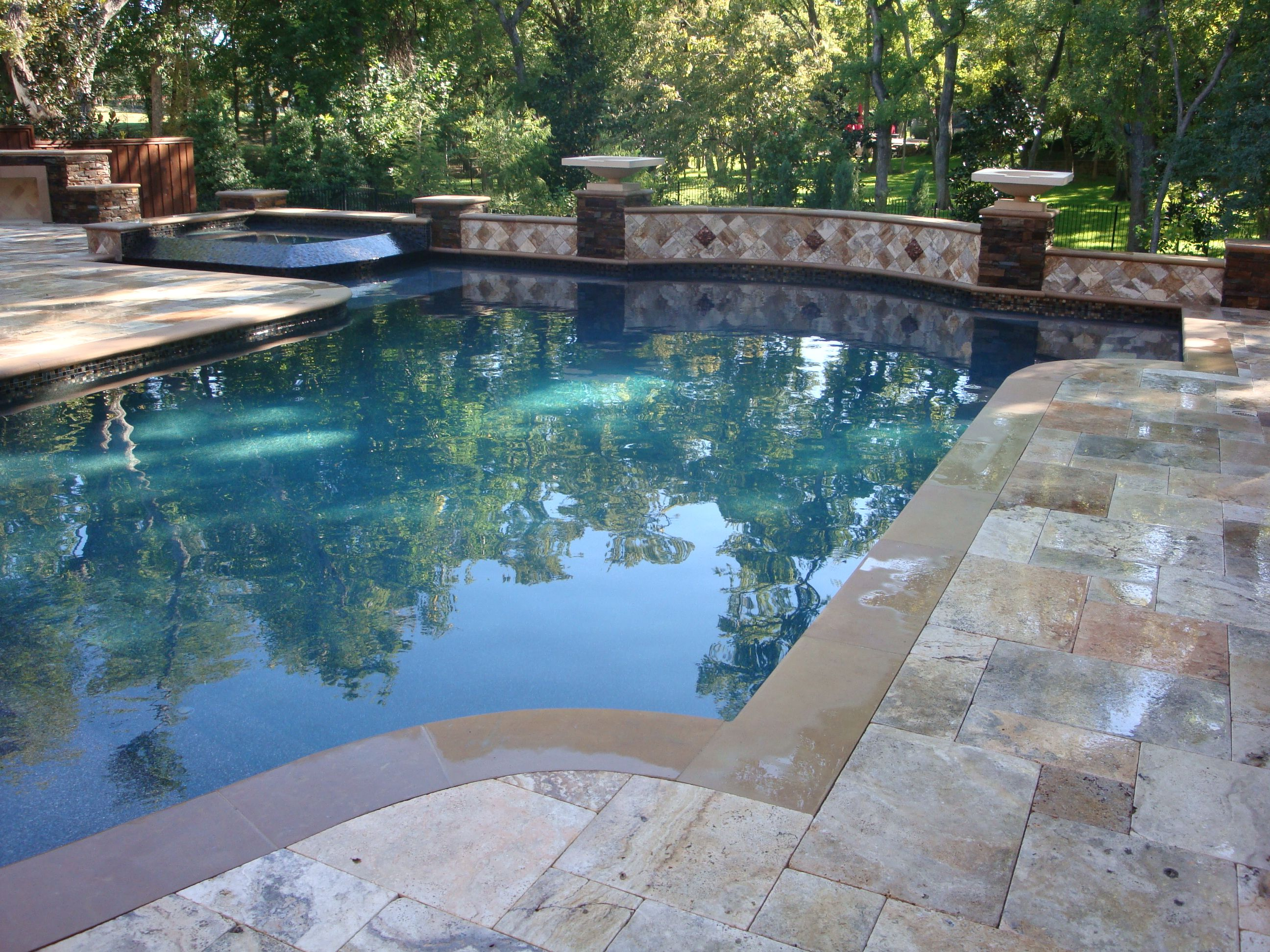 This Deck Is Done In Cappadocia French Pattern Paver But The Pool