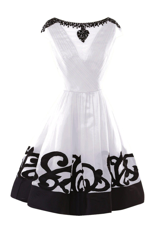 Bess bridal womenus invisible v beaded bridesmaid dress short