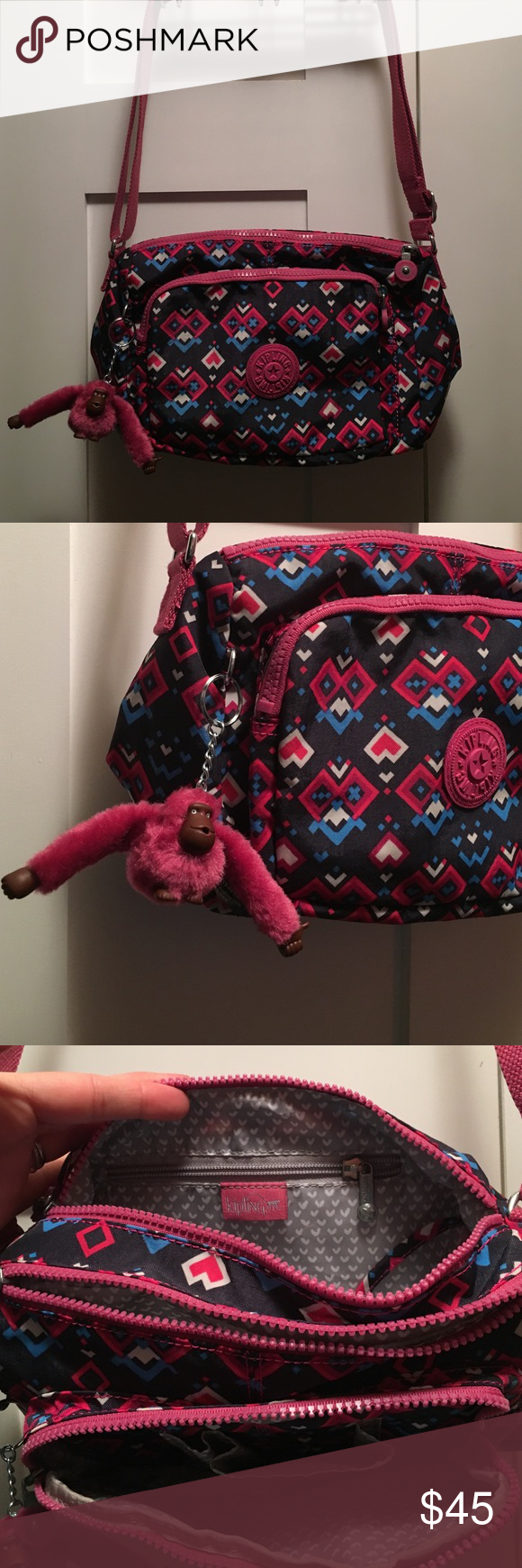 Kipling Crossbody Purse This is a never used, new without tags Kipling Purse. The strap is adjustable and there are tons of pockets and compartments. Kipling Bags Crossbody Bags