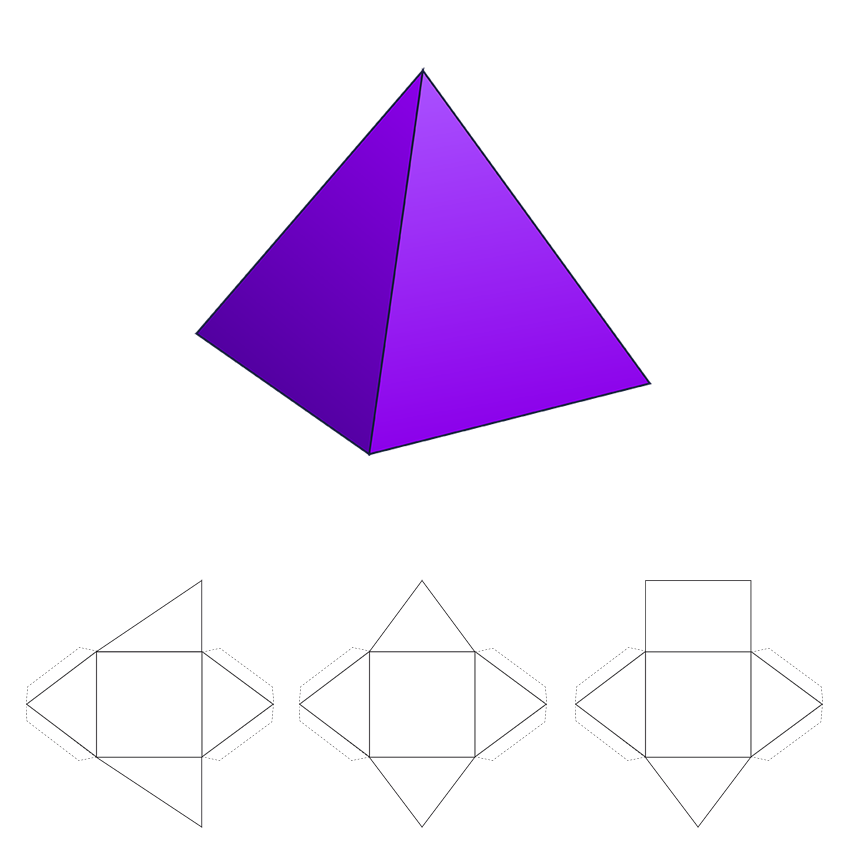 Pyramid 3d Shape Geometry Nets Of Solids Activities And Worksheets Gynzy Http R Gynzy Com Ab0d9a8d 3d Shape Engaging Lessons Geometry