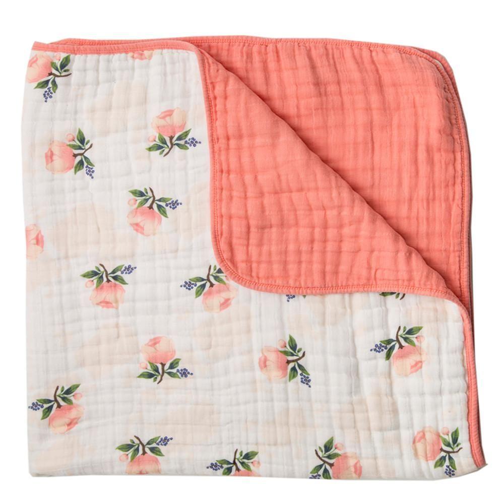 Watercolor Rose Toddler Quilt #littleunicorn