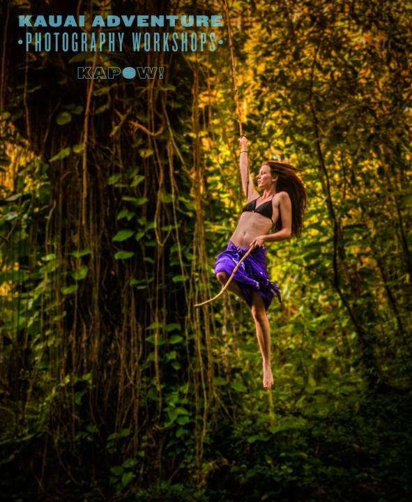 Just Swinging Around at Hoopii Falls- Kauai, Hawaii