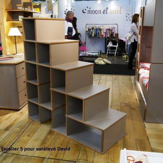 escaliers pour lit enfant sur lev david mathy by bols fabrication artisanale belge design par. Black Bedroom Furniture Sets. Home Design Ideas