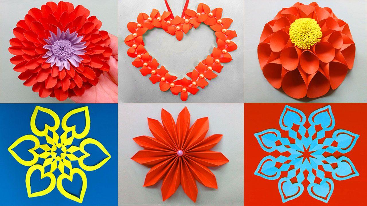 Best 6 Easy Paper Flower Tutorials Paper Flowers Diy Paper Flowers Paper Flower Tutorial