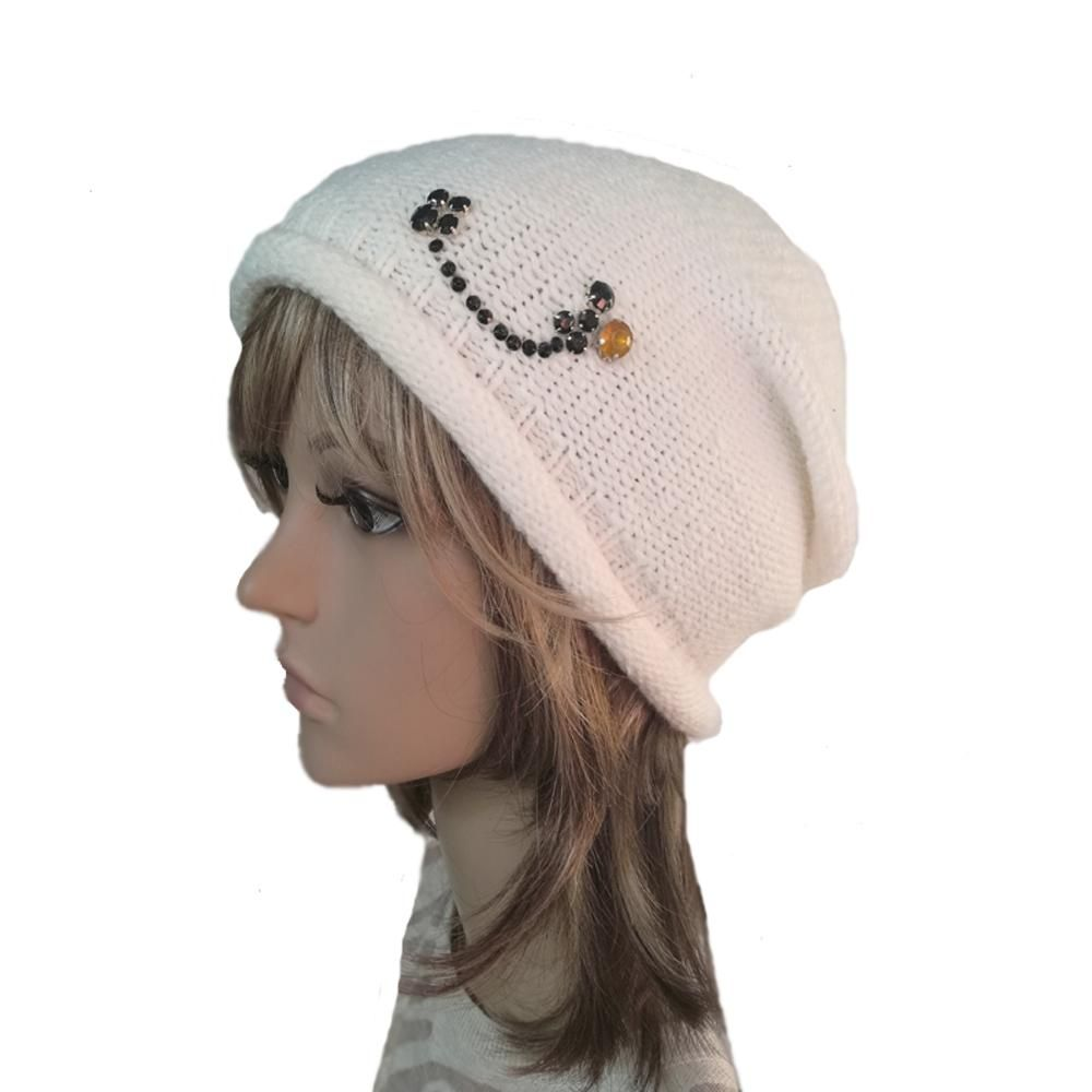 b6d48625a84 Knitted Women s Beanie Hat - Slouchy Knit Cap for Winter