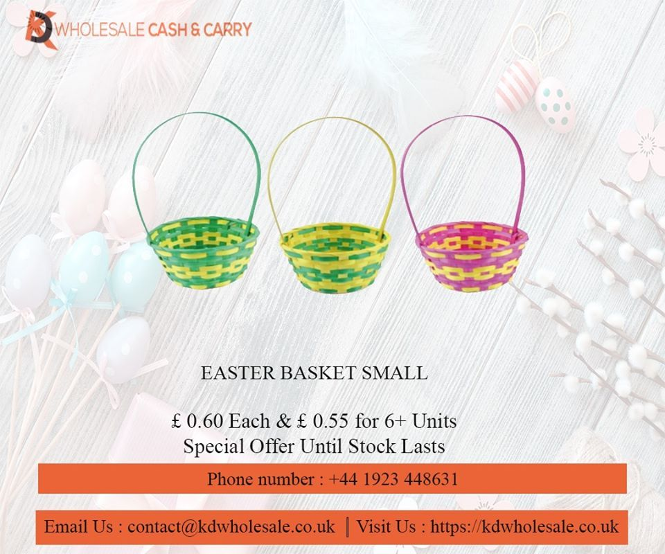 Easter basket small kd wholesale cash carry in 2020
