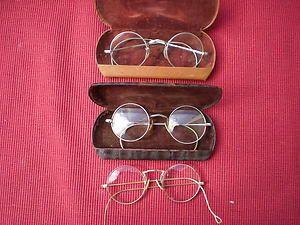 704fdf4af174 Antique Eyeglasses Vintage Round Spectacles 1 is 10K Gold Filled 1 is a  Shuron