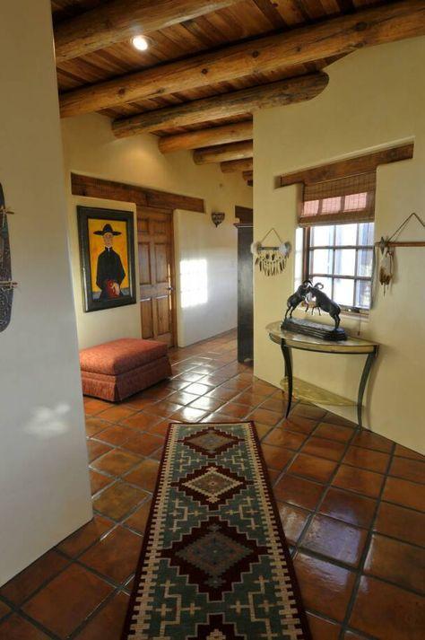 Beautiful new mexico home entrance creaciones en 2019 for Casas campestres rusticas