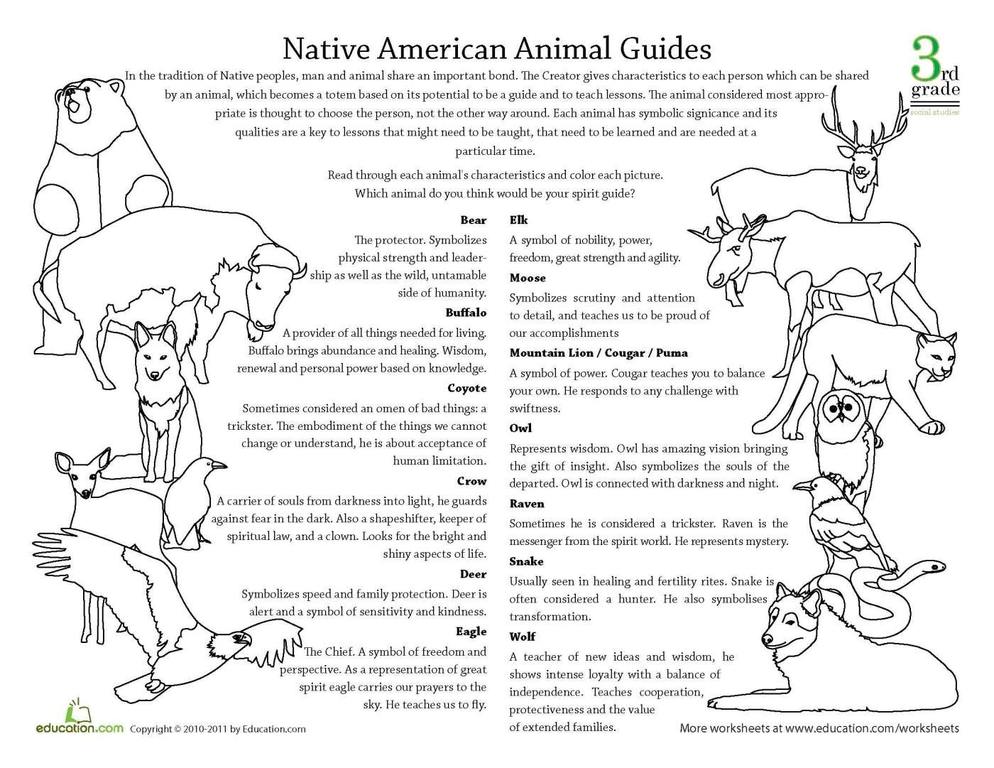 Native American Animal Guides And Their Meanings Intl