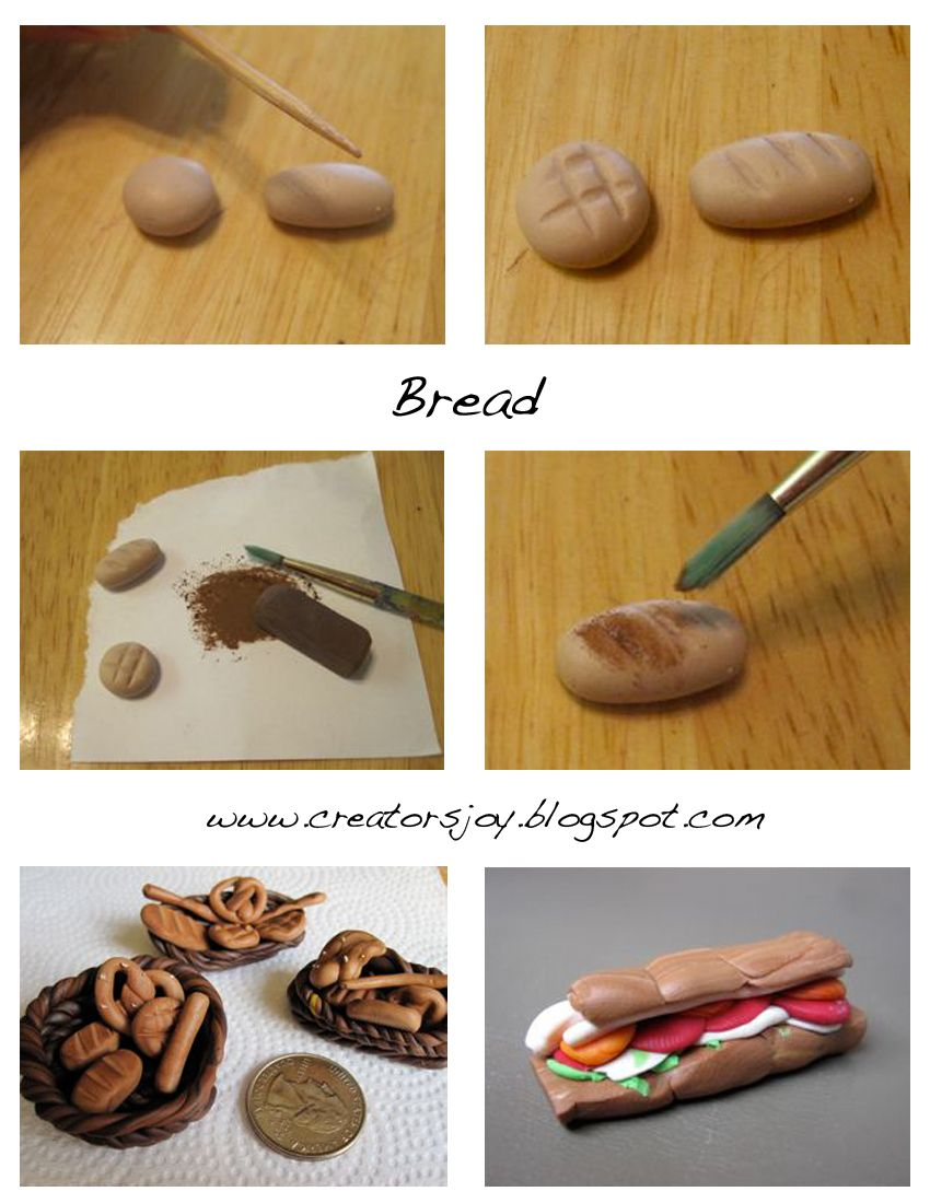 Creator's Joy: Dollhouse Miniature bread tutorial #dollhouseminiaturetutorials