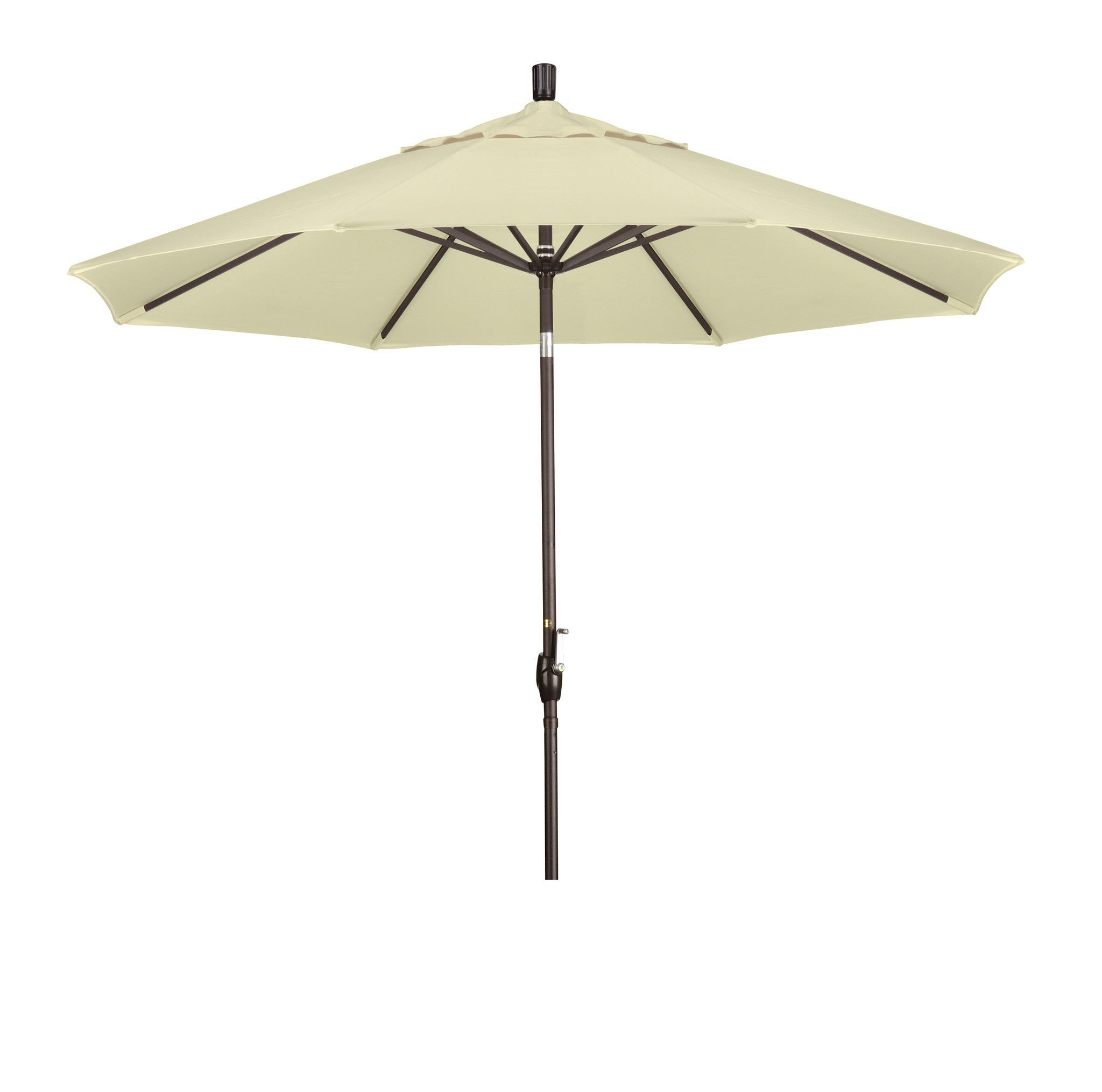 Eclipse Collection 9' Aluminum Market Umbrella Push Tilt - Bronze/Pacifica/Natural