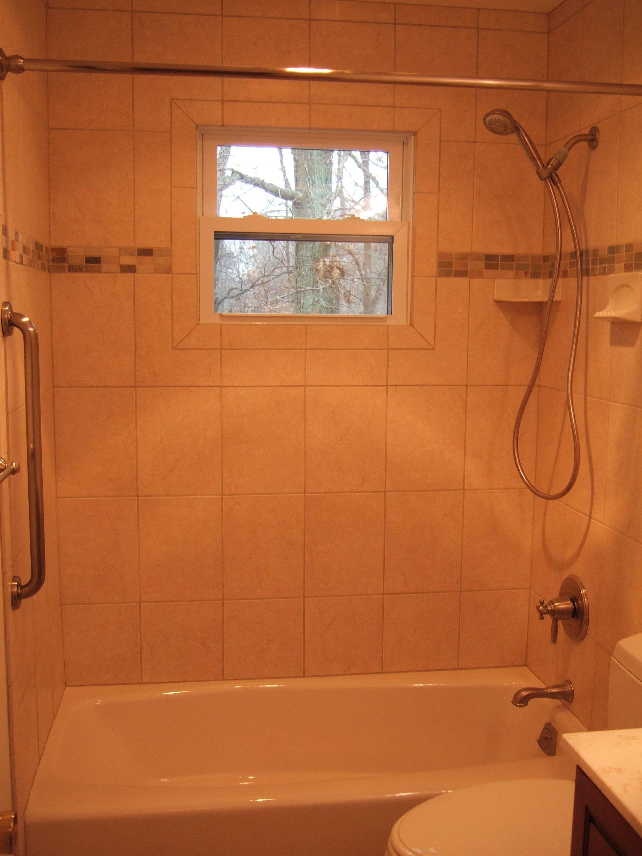 Bathroom Windows Over Shower fiberglass tubs and walls idea | main bathroom tub shower with