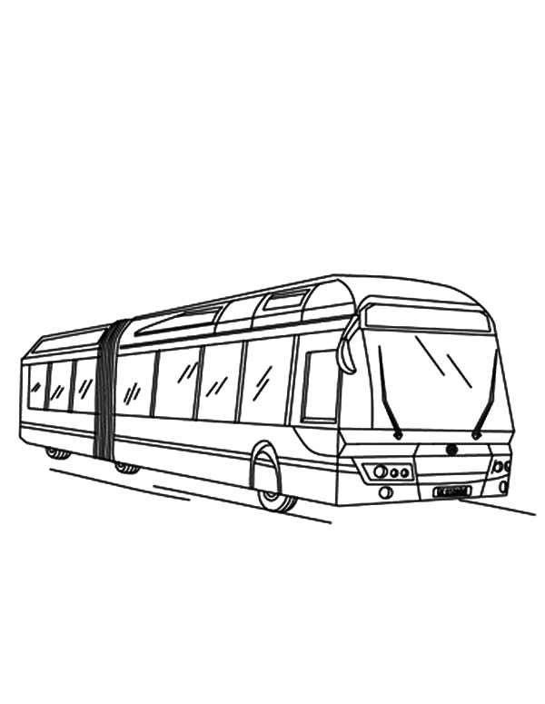 Long City Bus Coloring Pages Netart Coloring Pages Color City