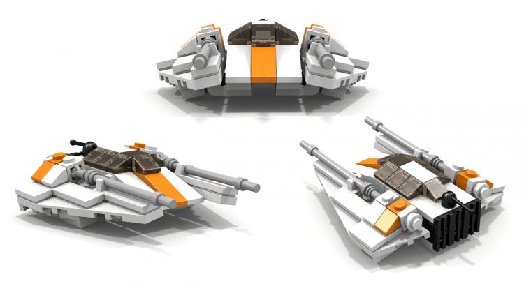 custom LEGO MOC Star Wars T-47 Airspeeder-Snowspeeder Instructions ...