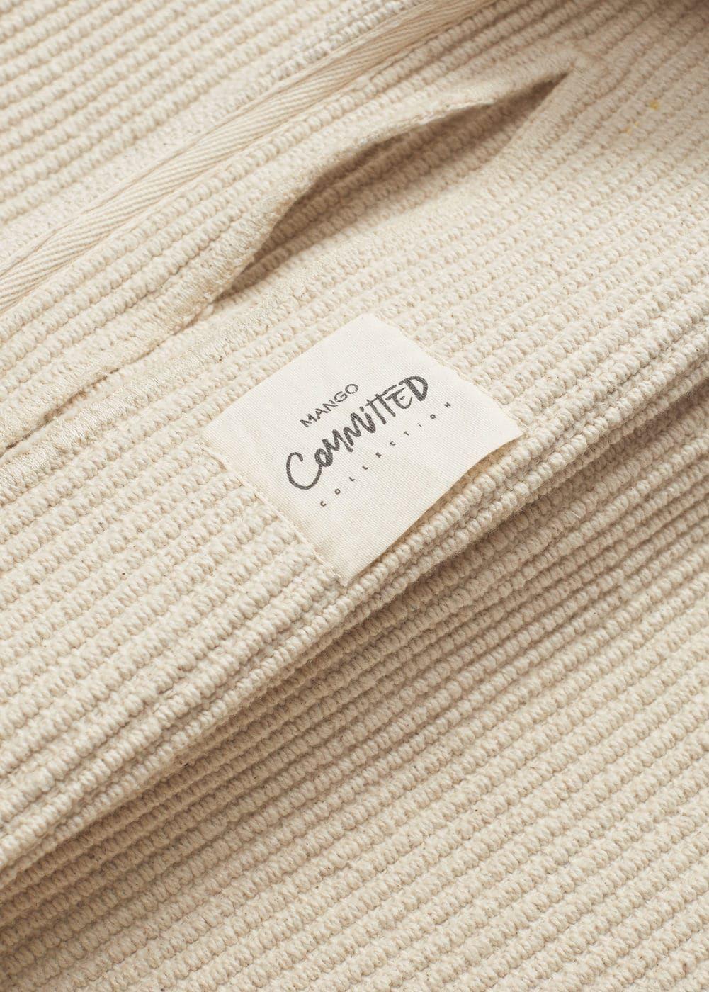 Cotton bucket bag - Women  Mango United Kingdom  Fabric labels