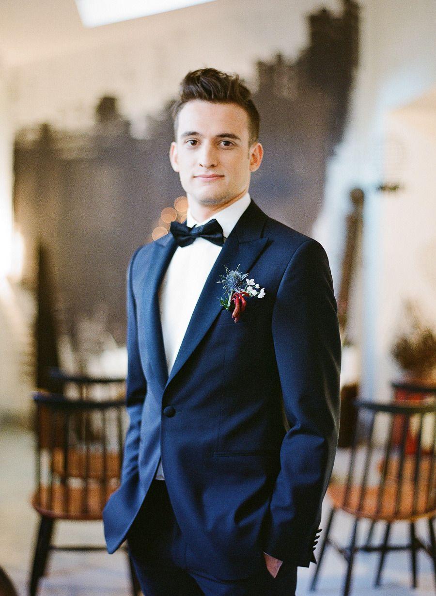 Parisian Industrial Loft Wedding Inspiration | Groom attire ...