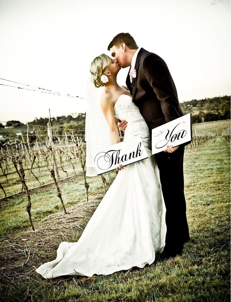 thank you signs  photo props  thank you notes  wedding photos  reception signs  thank you