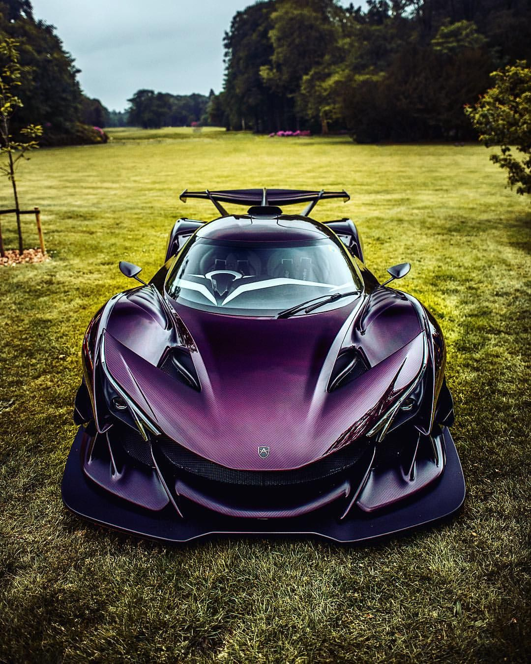Awesome Shot Of The Purple Dragon By Ccourjon Apolloie Apolloautomobil Assen Supercarsunday Hypercar Purpledr Super Cars Apollo Car Truck Accessories