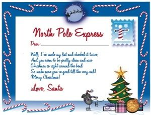 Free printable letter from santa claus paperdolls labels cards free printable letter from santa claus spiritdancerdesigns Image collections