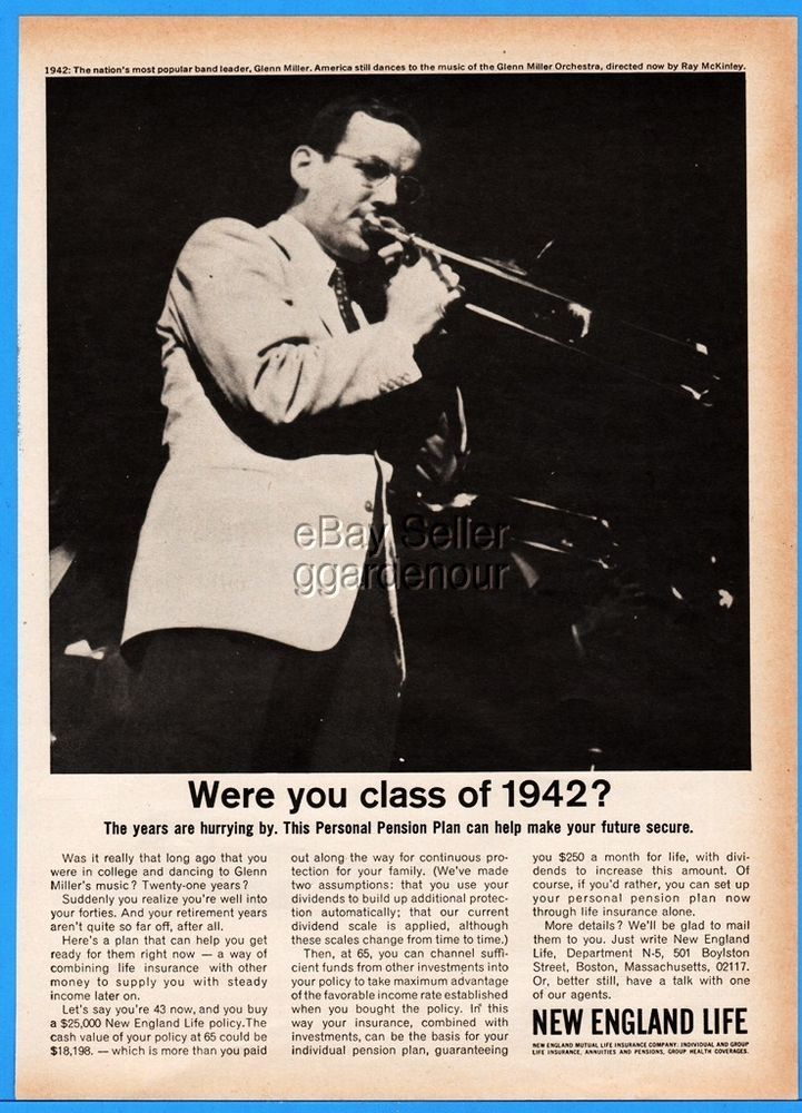 1963 New England Life Insurance Glenn Miller Orchestra Playing