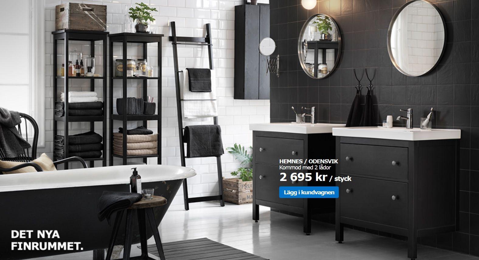 Ikea Hemnes Serien Ikea Badezimmer Bad Inspiration Inneneinrichtung