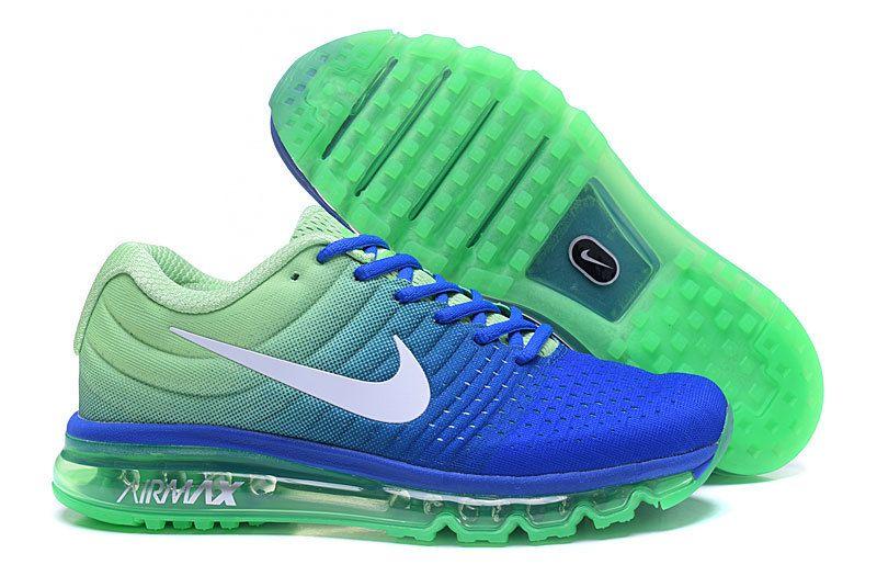 Cheap Nike Air Max 2017 Blue Green White Sneakers  1b9f406afa