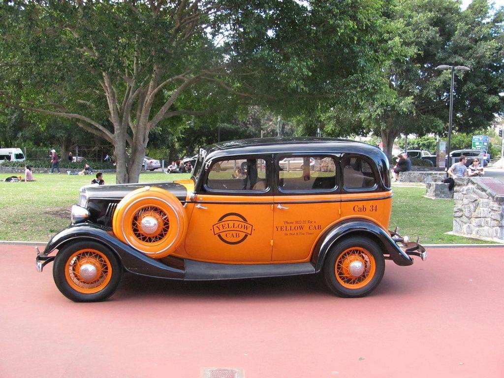 1934 Ford V8 Brisbane Yellow Cab Maintenance/restoration of old ...
