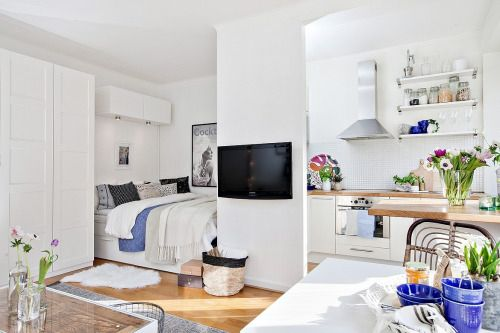 Kleine Wohnung einrichten - Gerichtete und indirekte Beleuchtung - 6 qm küche einrichten