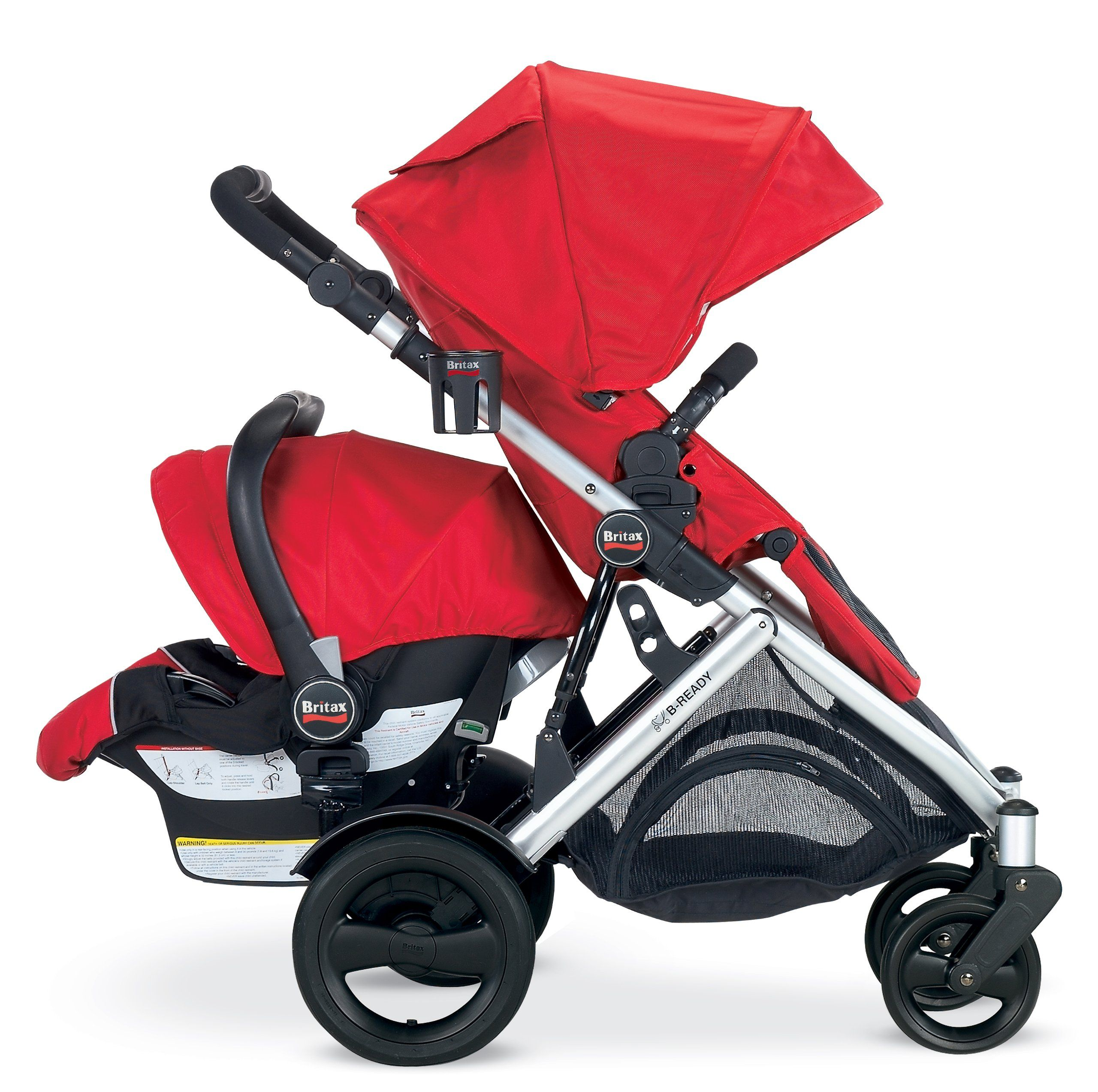 Amazon Britax B Ready Stroller 2012 Red Infant Car Seat Travel Systems Baby