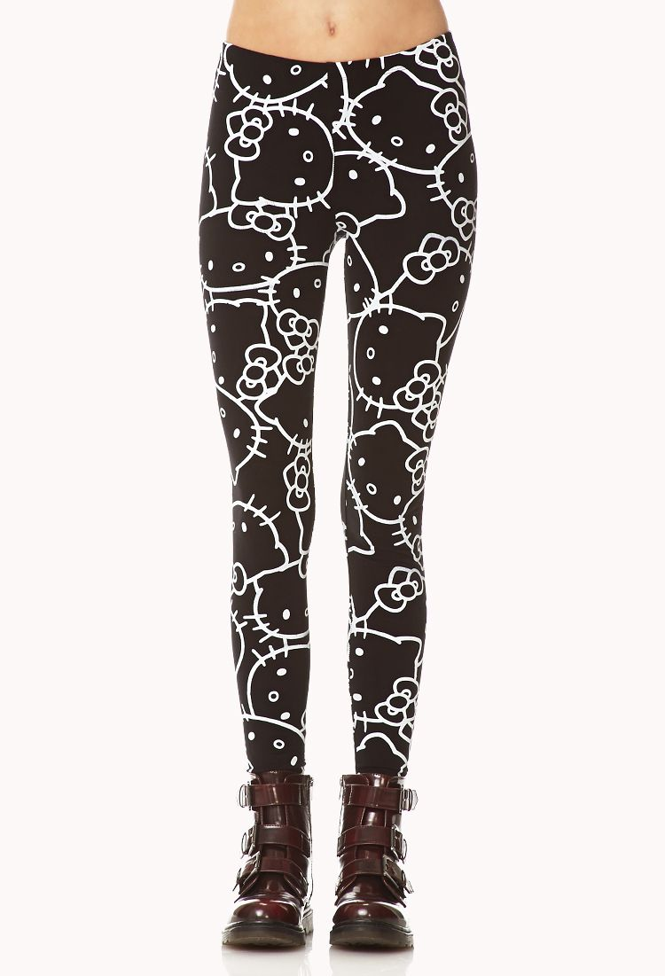 Hello Kitty Leggings Forever21 Fashion Fall Winter Squishy Quotrice Ball Onigiriquot Online Store Powered By Storenvy